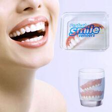 CN_ Perfect Smile Teeth Cosmetic Top Bottom Fit Comfort Fake False Veneers Sil