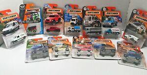 Lot of 12 Matchbox Cars & Trucks Nice Variety 1:64 NOC Lot A