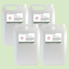 Lactic Acid 80% 4 x 5 Litre (20L) Food Grade Acne/Facial/Home Brew