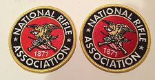 "2-BRAND NEW- NATIONAL RIFLE ASSOC/ NRA EMBROIDERED Iron On PATCHES  3"" Round"