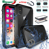 Redpepper Waterproof Case Shockproof Dirtproof Clear Cover for iPhone X 7 8 Plus