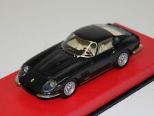 1/43 BBR Ferrari 275 GTB Street 1965 Met. Green Italian leather base by Schedoni