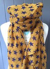 Super Estrella Bufanda Estrellas Envoltura de regalo presente mostaza Púrpura Regalo Mamá Hermana amigo