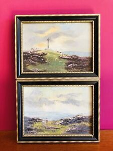 Pair Of Oil Paintings Depicti North Yorkshire Landscape-signed Lewis Creighton