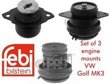 FEBI ENGINE MOUNTS SET OF 3 GOLF MK3 1.8 1.9D 1.9TD 2.0 8V INC GTI