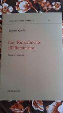 Eugenio Garin, Dal rinascimento all'illuminismo