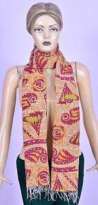 Indian Vintage Kantha Scarf Cotton Dupatta Neck Wrap Reversible Shawl Veil Boho