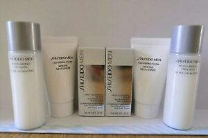 6 x Shiseido Mens Skin Care Moisturizing Emulsion, Foam & Scrub - NEW -Clearance