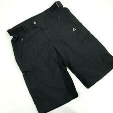 "Dare2B Mens Cycling Shorts Size 32"" Black Lined Butt Pad Adjustable Waist New"