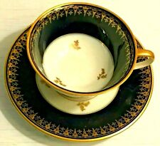 Rosenthal Winifred Footed Cup & Saucer Cobalt Rim Gold Flowers Filigree RARE