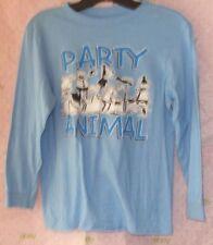 New OLD NAVY boys party animal medium TEE SHIRT Long sleeve top