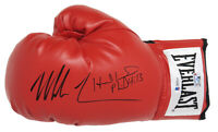 Evander Holyfield & Mike Tyson Signed Everlast Red Boxing Glove (Beckett COA)