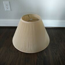 """IVORY PLEATED FABRIC LAMP SHADE (19"""" WIDE AT BOTTOM)"""