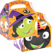 5 x Happy Halloween Trick Or Treat Fun Party Gift Loot Favour Lunch Treat Boxes