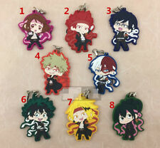 T1501 Anime Boku no Hero Academia rubber Keychain Key Ring Rare straps cosplay