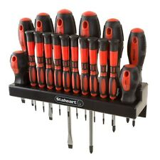 18 Pc Precision Magnetic Tip Screwdriver Set with Wall Mount and Hardware
