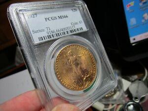 GOLD SUPERB GEM SAINT GAUDENS DOUBLE EAGLE  MS-66  1927   @ PCGS 34 BETTER