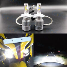 H4 9003 6000K White 8000LM High Power Motorcycle LED Headlight Bulb Hi/Lo Beam