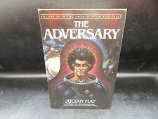 Julian May THE ADVERSARY Pliocene Exile Saga vintage scifi HC book 1984 SIGNED !