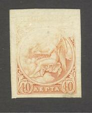 GREECE 1906 Olympic Games Athens imperforated PROOF 40L orange on thick paper