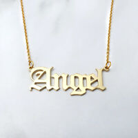 Custom Name Necklace,Old English Name Necklace,Personalized gift for her
