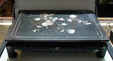 Unique Wood & Mother of Pearl Inlay Table Asian Motif