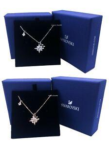 NEW SWAROVSKI Rhodium Rose Gold Crystal Stars Pendant Necklace 5511404  5494352