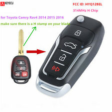 Remote Key Fob 4 Button 314MHz H Chip for Toyota Camry Rav4 2014-2016 HYQ12BEL