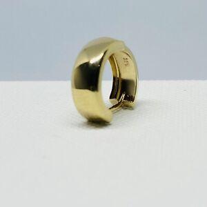 Genuine 9ct Yellow Gold Mens 15mm Huggie Hoop Earring Single