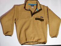 Patagonia Synchilla Snap-T Fleece Tan Beige Brown Pullover Men's Size XS worn 1x