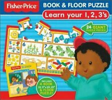 Fisher-Price Number Book & 24pc Floor Puzzle Kids Children Box Set