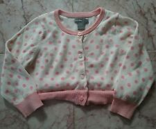 GAP BAMBINO DOLCE ROSA a pois Maglione Cardigan 12-18 MOS