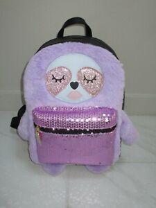 Betsey Johnson Lbmaggie Sloth Backpack Purple Sequins