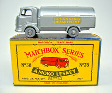 Matchbox No.38A Refuse Truck met. silver body earlier casting mint/boxed