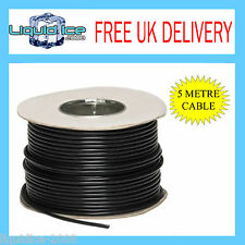 5 METRE 15A BLACK 12V 2MM STRAND EARTH CAR VEHICLE SPEAKER CABLE WIRING