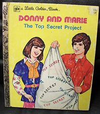 Donny and Marie The Top Secret Project Little Golden Book, 1977