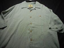 Joe Marlin Light Sage Green Button Short Sleeve XXl Rayon Poly Men's Shirt