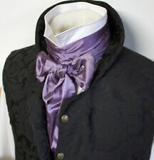 Wholesale Regency Victorian Ascot Cravat Tie - Extra LONG Plum Dupioni Silk 3x77