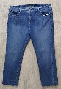 Lucky Brand Emma Straight Womens Jeans Medium Wash Denim Stretch Plus Size 22W
