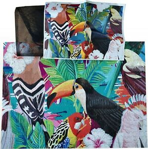 500 Piece Jigsaw Puzzle,Wooden Pieces.Tropical Birds Toucan, Complete in bag