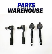 4 Pc Kit 2 Inner 2 Outer Tie Rod Ends For Toyota Sequoia 01-02 1 Year Warranty