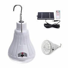 Hanging Solar Powered LED Remote Light Bulb Garden BBQ Camping Fishing Festival