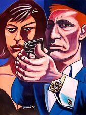 JAMES BOND PRINT poster quantum of solace casino royale daniel craig walther ppk