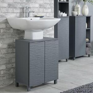 Jesse Grey Ripple Bathroom Under Basin Unit