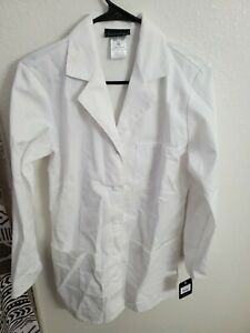 """Cherokee Women's Long Sleeve Chest Pockets 32"""" Lab Coat White Size XS(36Bust/34"""
