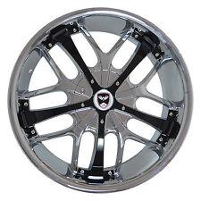 4 GWG Wheels 18 inch Chrome Black SAVANTI Rims fit 5x108 LINCOLN LS V8 2000-2006