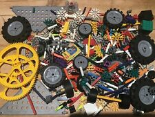 1 KG MIXED K'NEX PARTS AND PIECES WHEELS GEARS