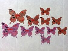 11 pcs 3D Plastic Butterfly Wall Art Stickers / Scrapbooking Removable - Love