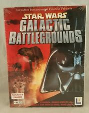 Star Wars: Galactic Battlegrounds (PC, 2001) BIG BOX PC ITALIAN VERSION NEW