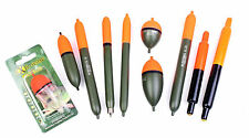 10 Assorted Quality Pike Fishing floats  -pencil,cigars,sliders